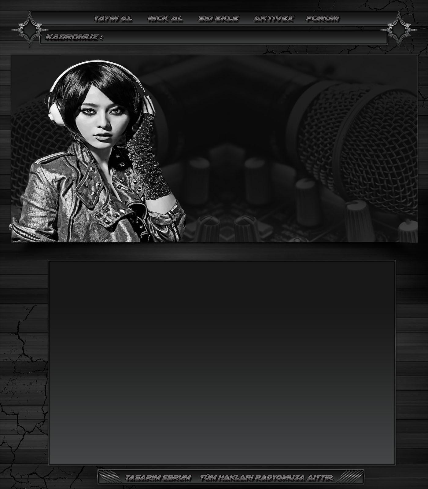 Gri Mikrofon Dj Kız Radyo İndex [1000x650 Boyutunda]