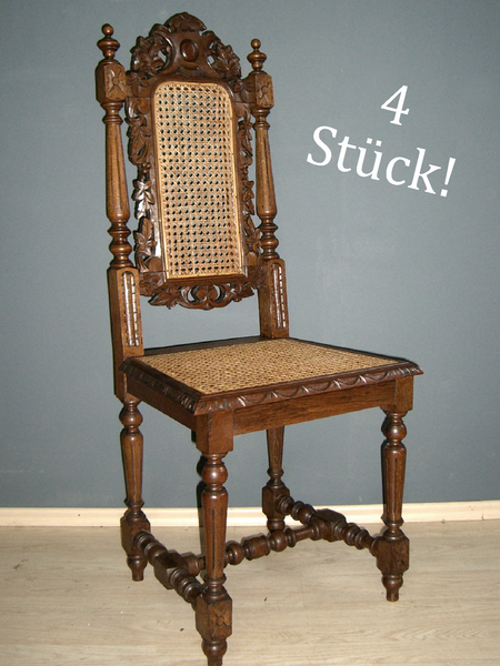 4 gr nderzeit hochlehner st hle eiche essgruppe antik esszimmer stuhl gruppe ebay. Black Bedroom Furniture Sets. Home Design Ideas