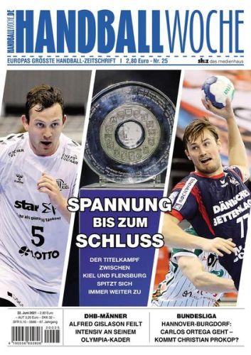 Cover: Handballwoche Magazin No 25 vom 22  Juni 2021
