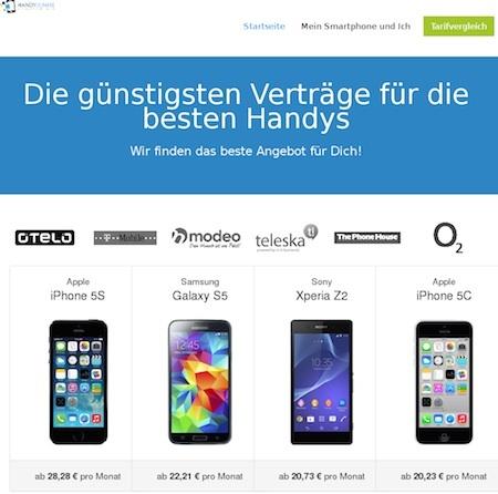 Handyvertrag online finden