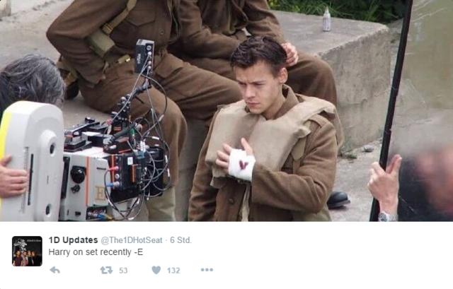One Direction So Sieht Harry Styles Bei Dunkirk Aus News