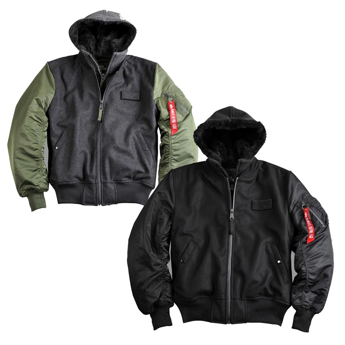 alpha industries ma 1 d tec wool flight jacket jacket. Black Bedroom Furniture Sets. Home Design Ideas