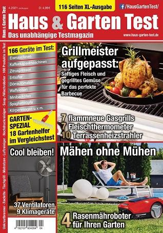 Cover: Haus & Garten Test Magazin Juli-August No 04 2021