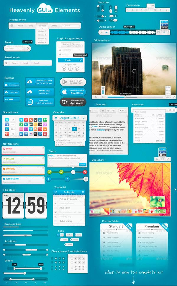 Heavenly GUI Kit Elements