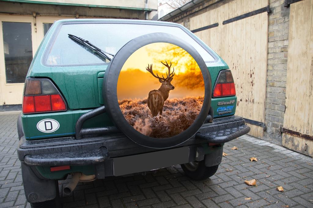 Reserveradabdeckung Mercedes Daihatsu Jeep VW Landrover Chevrolet Ford Isuzu
