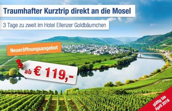 Mosel - 3 Tage im Hotel Ellenzer Goldbäumchen