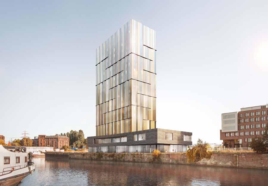 hochhauswelten hamburg hotel hafen harburg 65m in planung. Black Bedroom Furniture Sets. Home Design Ideas