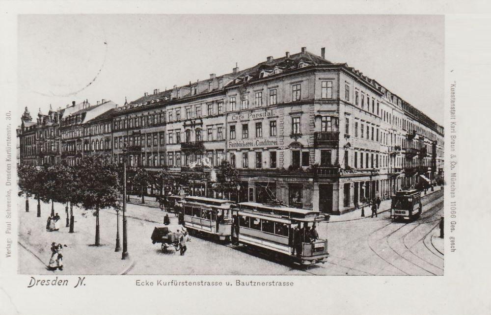 Antiquitäten & Kunst 1906 Dresden Altstadt Gerichtsgebäude Teil 3