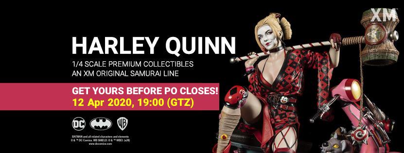Premium collectibles : Harley Quinn** Hqbannerpofinalmqj48