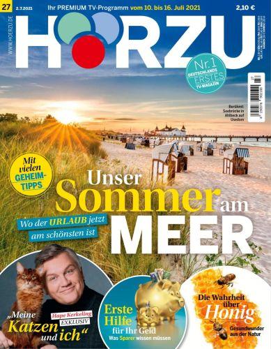 Cover: Hörzu Fernsehzeitschrift No 27 vom 02  Juli 2021