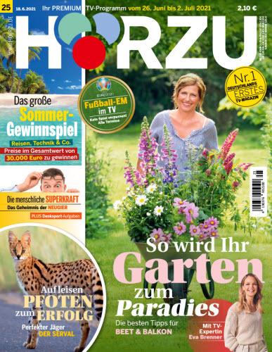 Cover: Hörzu Fernsehzeitschrift No 25 vom 18  Juni 2021