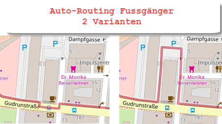 Eigenartiges Routing