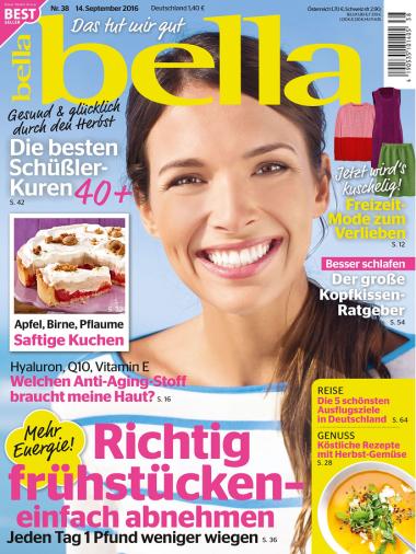 Bella Frauenmagazin No 38 vom 14. September 2016