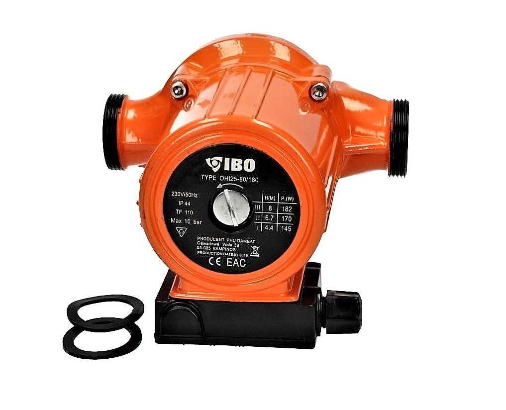 Umw/älzpumpe Heizungspumpe IBO 25-40//180 Pumpe Warmwasser Heizung Nassl/äufer NEU