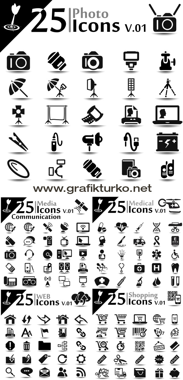 Media Icon Set - Vector Pack