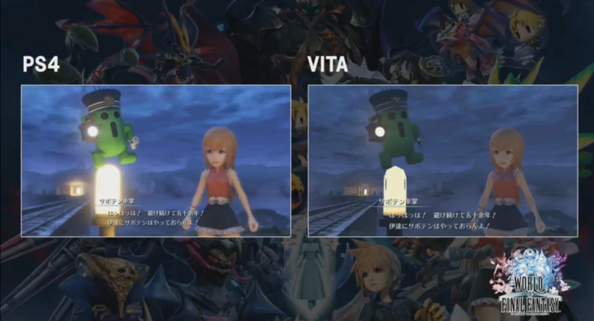 World of Final Fantasy: PS4 vs Vita and more - NeoGAF