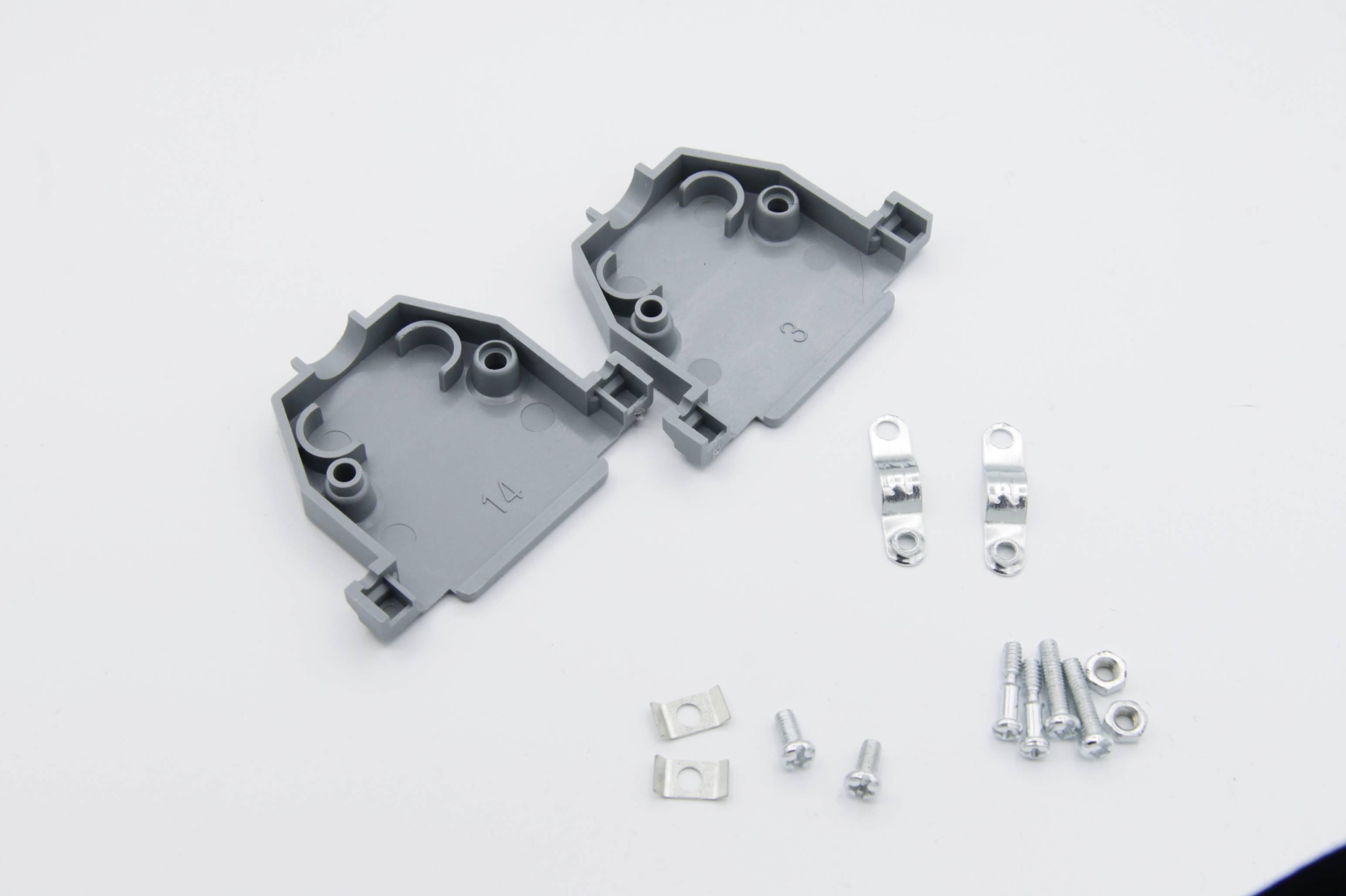 Sub-D-Gehäuse -Schalen - grau für Sub D 25 Buchsen- und Stiftleisten