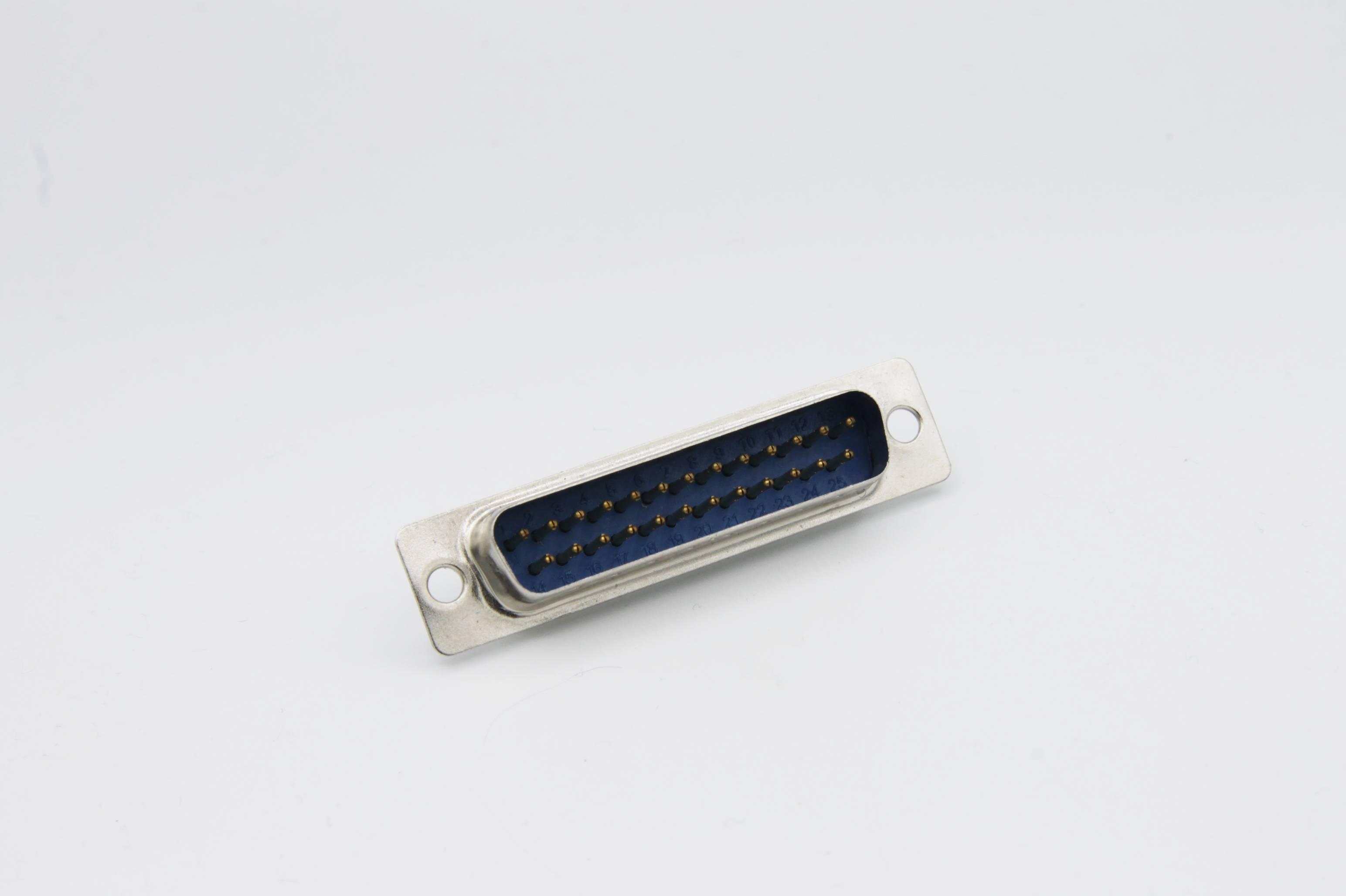 Sub-D-Stiftleiste 25-polig gerade mit Lötkelchen