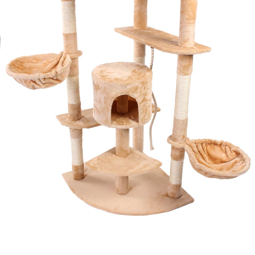 kratzbaum katzenbaum katzenkratzbaum kletterbaum sisal katzen deckenhoch beige ebay. Black Bedroom Furniture Sets. Home Design Ideas
