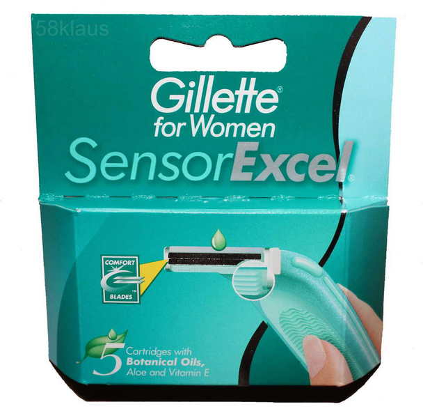 5x gillette sensor excel for women rasierklingen klingen. Black Bedroom Furniture Sets. Home Design Ideas