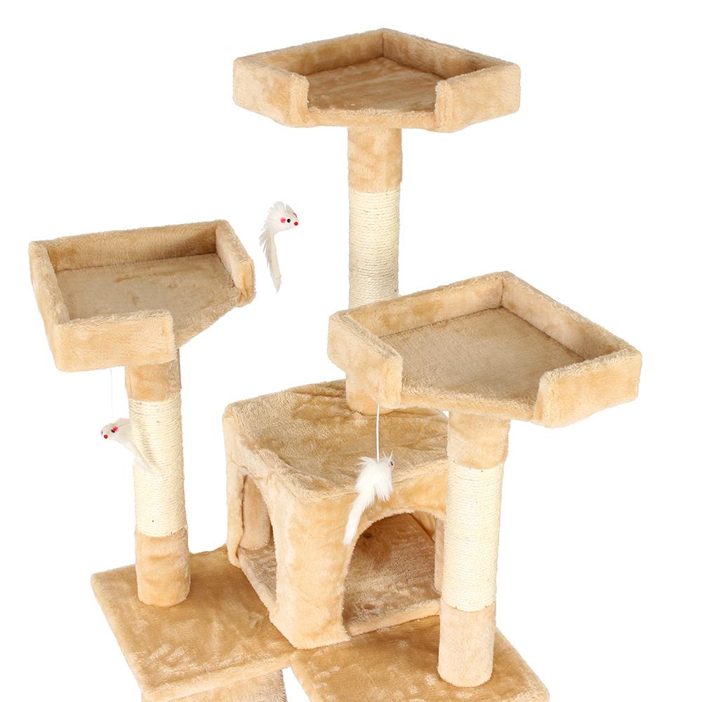 kratzbaum katzenbaum katzenkratzbaum spielbaum katzenkratzb ume katzen sisal ebay. Black Bedroom Furniture Sets. Home Design Ideas