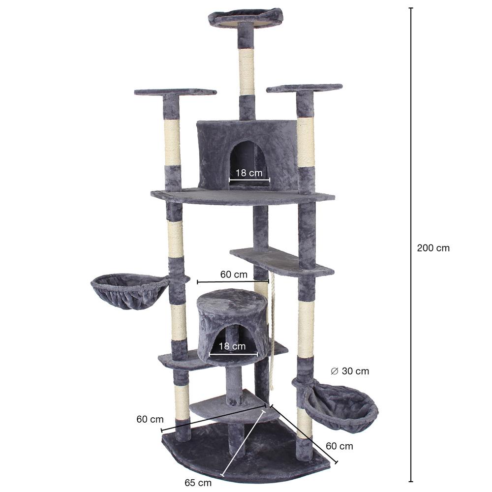 kratzbaum katzenbaum katzenkratzbaum kletterbaum sisal deckenhoch hellgrau ebay. Black Bedroom Furniture Sets. Home Design Ideas
