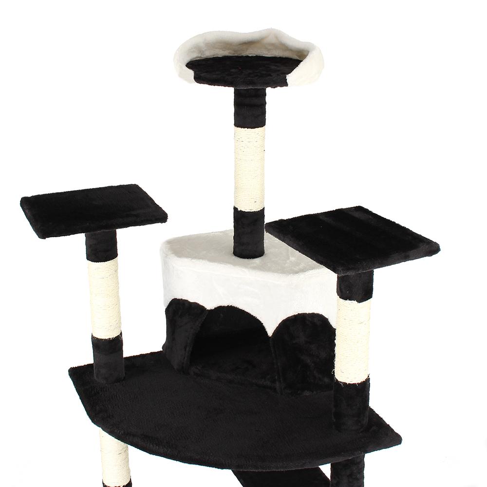 kratzbaum katzenbaum katzenkratzbaum kletterbaum sisal katzen deckenhoch schwarz ebay. Black Bedroom Furniture Sets. Home Design Ideas