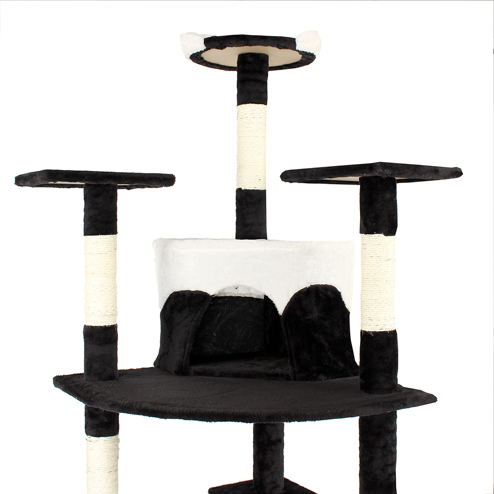kratzbaum katzenbaum katzenkratzbaum kletterbaum sisal katzen deckenhoch schwarz ebay. Black Bedroom Furniture Sets. Home Design Ideas