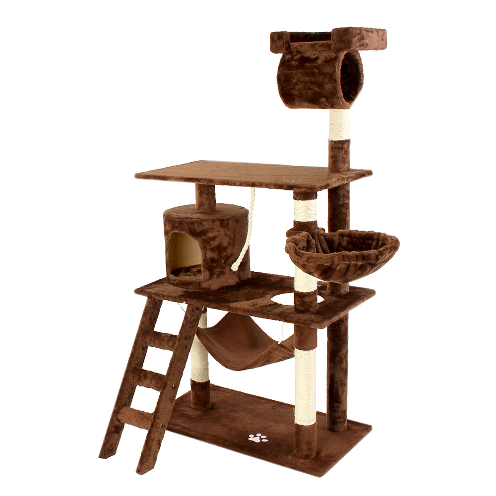 kratzbaum katzenbaum katzenkratzbaum spielbaum kletterbaum f r katzen sisal ebay. Black Bedroom Furniture Sets. Home Design Ideas