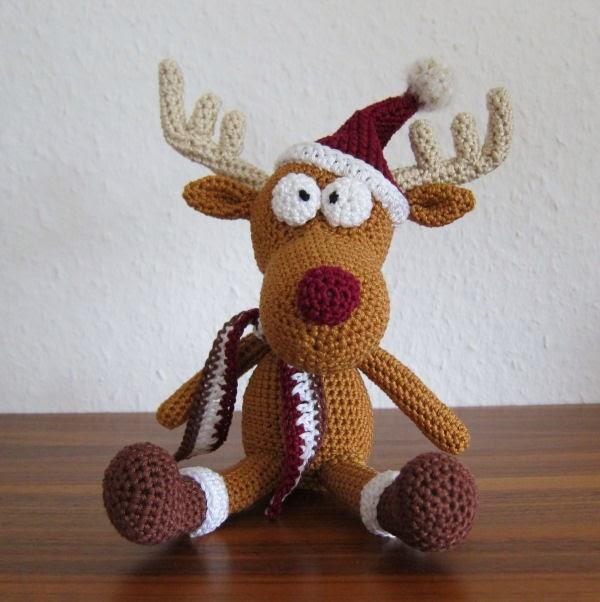 Häkelanleitung Rudolf das Renntier