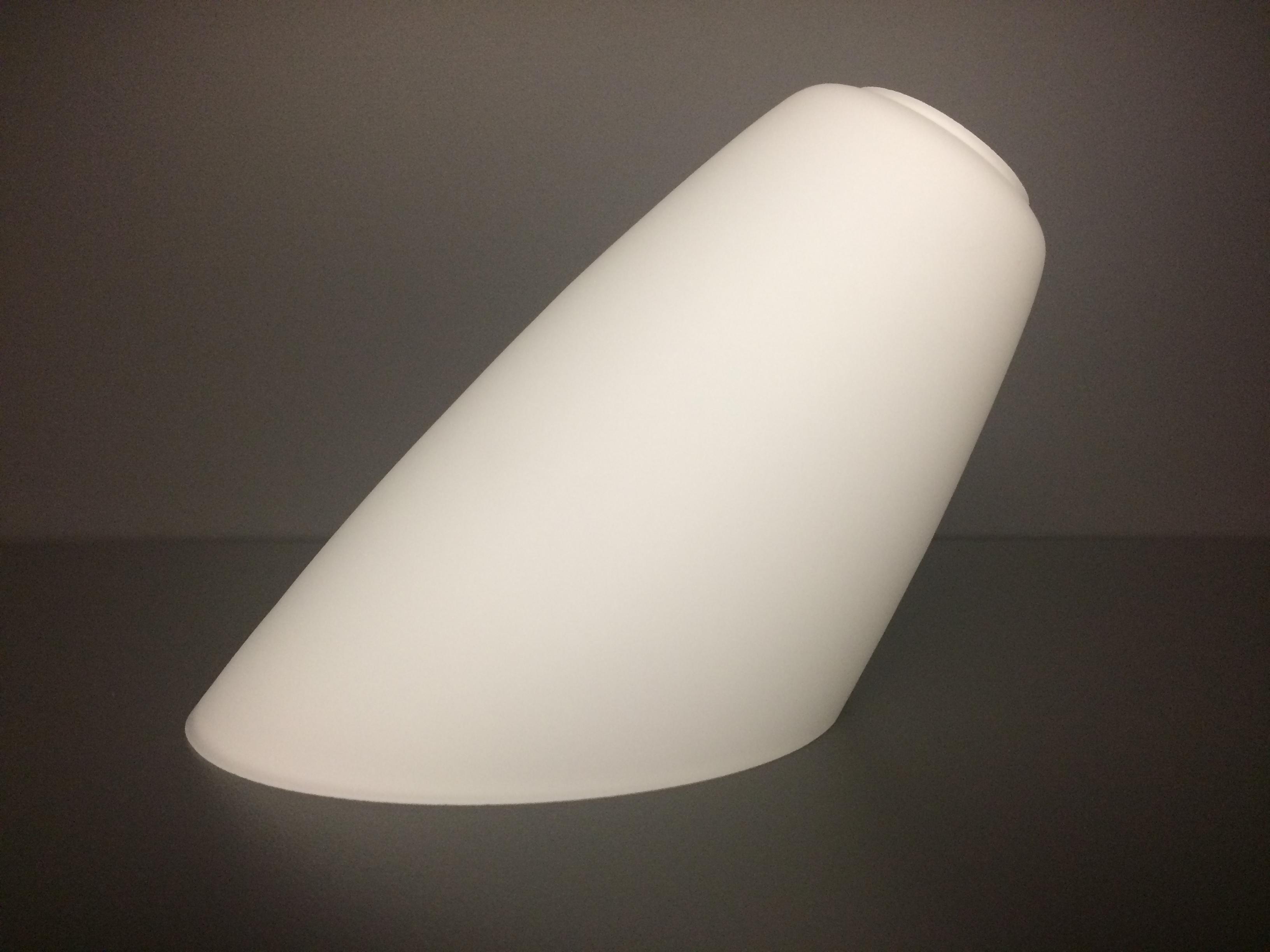 glas lampenschirm ersatzglas wei e14 lochma fassung 30mm abgeschr gt ebay. Black Bedroom Furniture Sets. Home Design Ideas