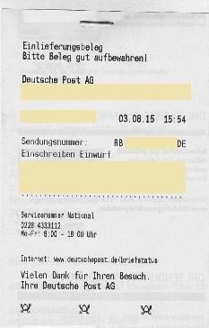 beschwerde deutsche post ag