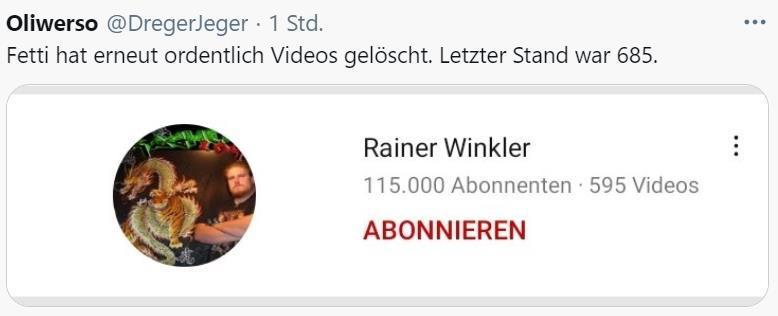 Winkler emskirchen rainer Drachenlord: Erfolg