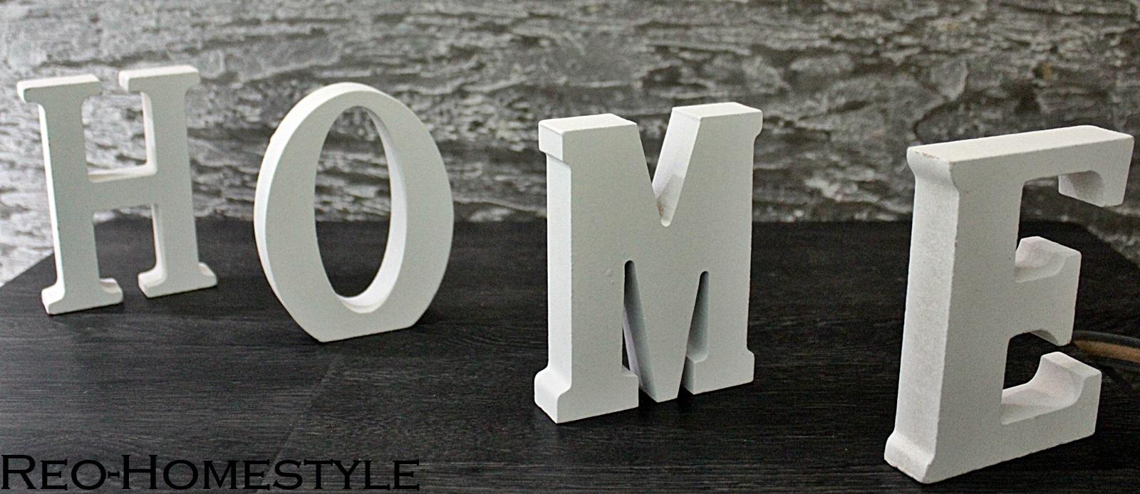 deko buchstaben home holz deko wei shabby chic. Black Bedroom Furniture Sets. Home Design Ideas