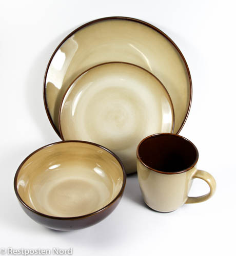 16 tlg geschirrset keramik tafelservice geschirr. Black Bedroom Furniture Sets. Home Design Ideas