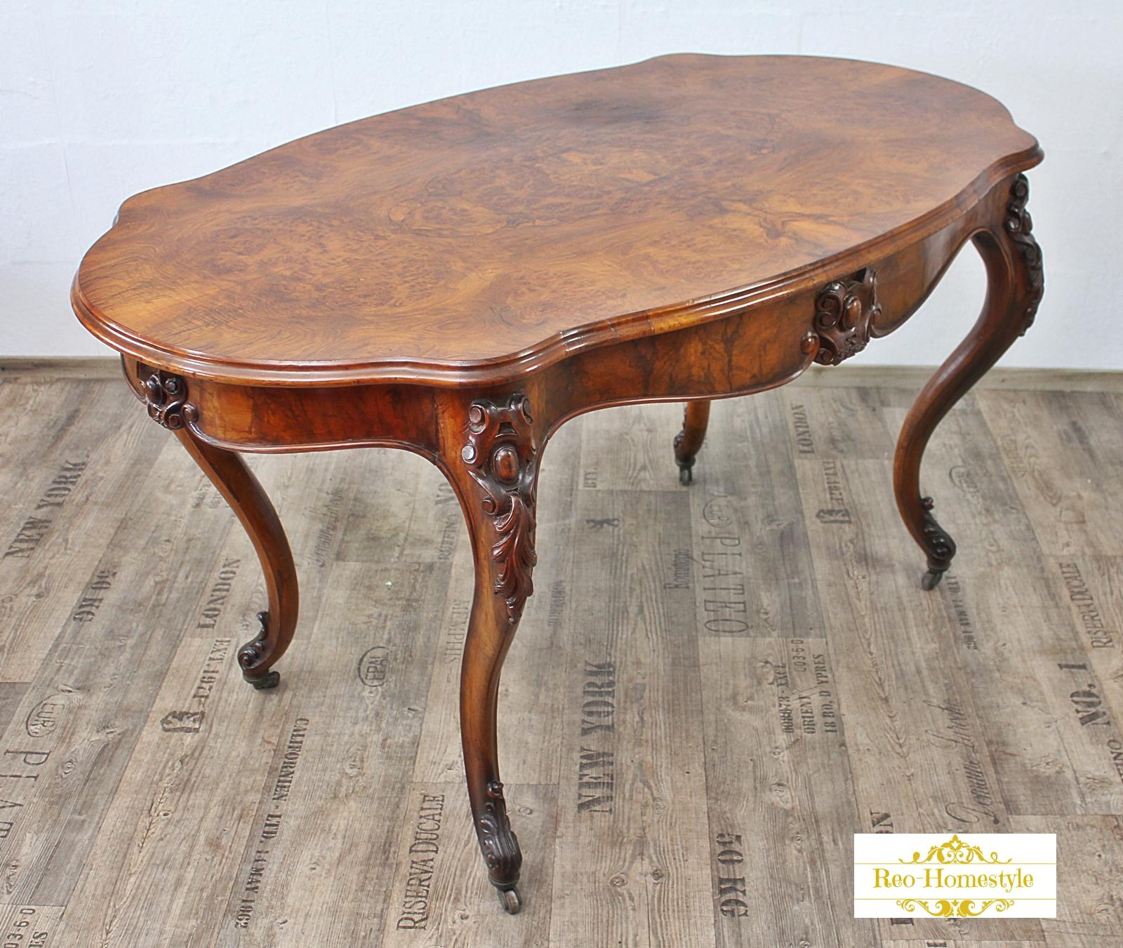 Chippendale Tisch chippendale tisch wurzelholz antik alt barock massiv vintage esszimmer ebay