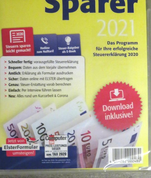 STEUERSPARER 2021 inklusive Download Lidl CD-ROM NEU ...