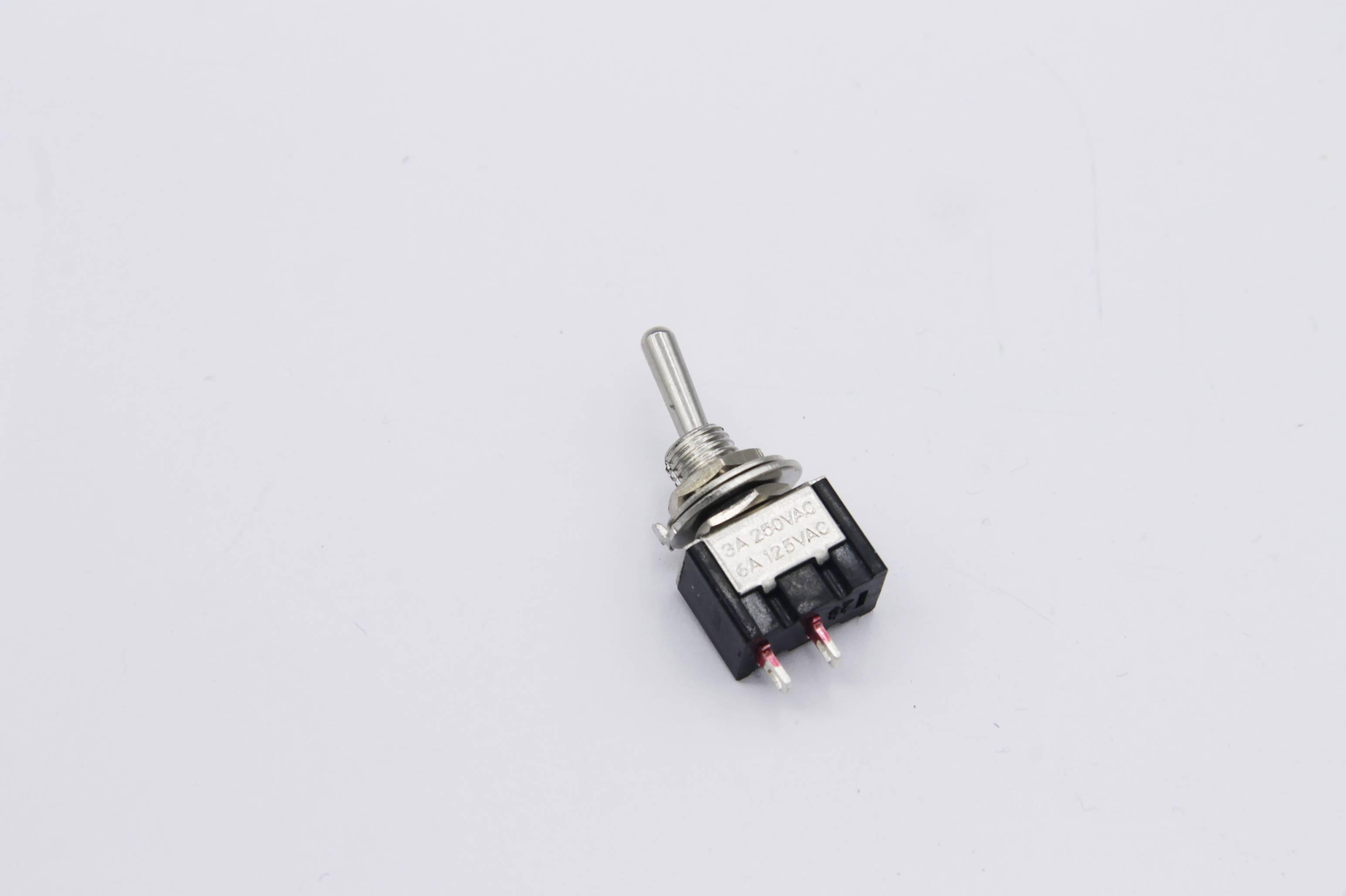 Miniatur Kippschalter 1x Ein - 2 Schaltstellungen 1-polig 2 Pin Ein/Aus