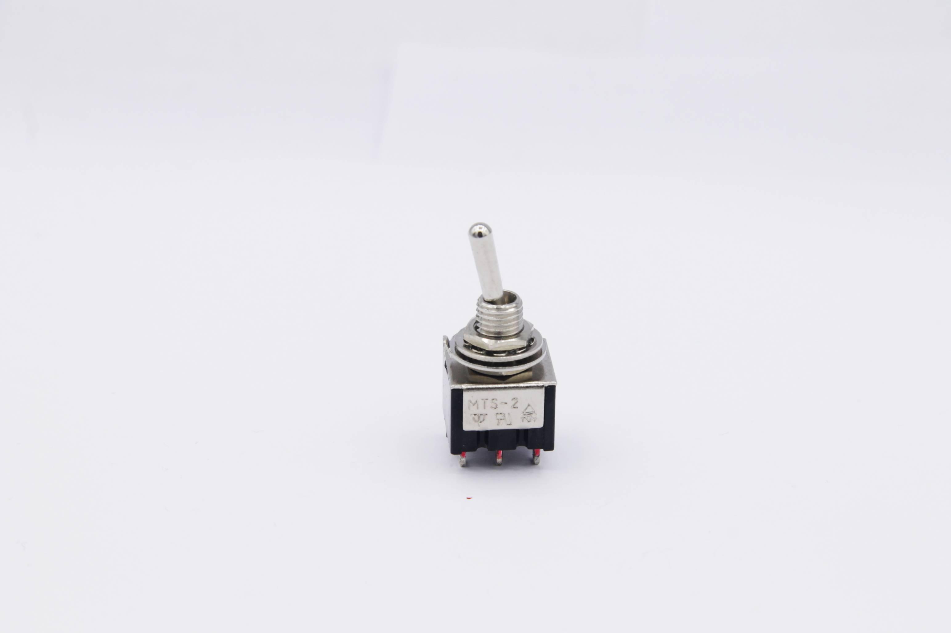 Miniatur Kipptaster 1x UM - 2 Schaltstellungen 1-polig - 3 Pins