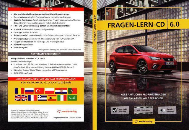 Wendel Verlag wendel verlag fragen lern cd führerscheinprüfung 2017 18 software