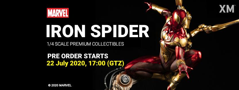 Premium Collectibles : Iron-spiderman** Ironspiderbannerpoyyjrv