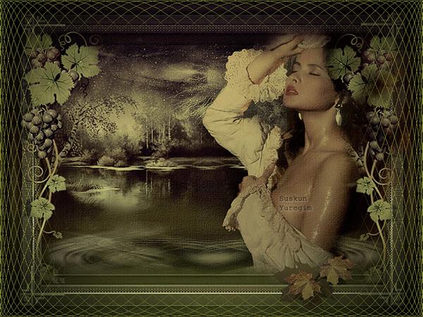 Issız Gece Romantik Bayan Grafik