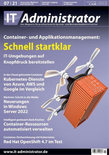 Cover: It-Administrator Magazin No 07 Juli 2021