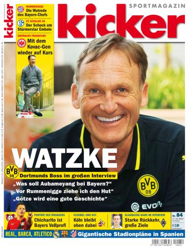 : Kicker Sportmagazin  No 84 vom 17. Oktober 2016