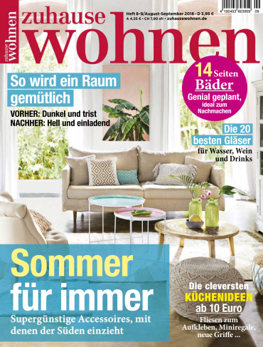 Zuhause Wohnen Magazin August-September No 08,09 2018