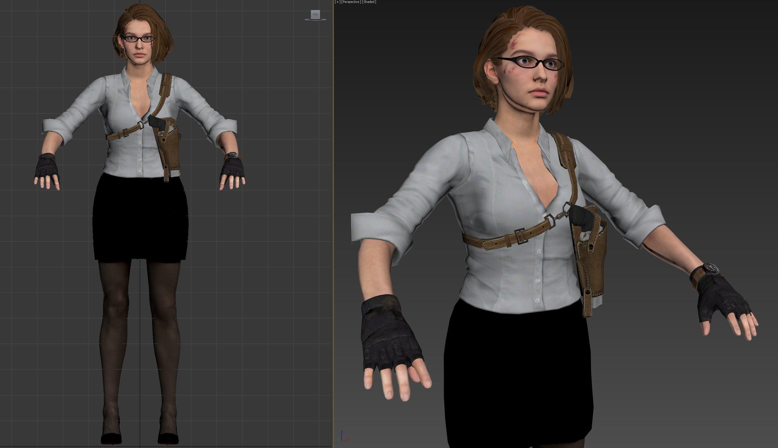 Re3r Jill Concept Art 03 Teacher Suit Costume