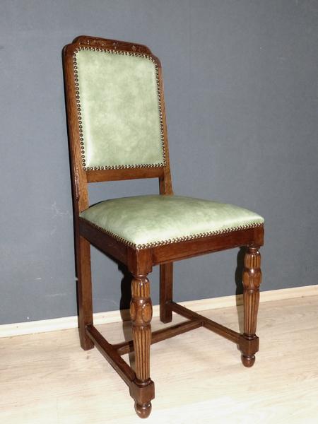 6er satz jugendstil st hle eiche essgruppe antik esszimmer. Black Bedroom Furniture Sets. Home Design Ideas