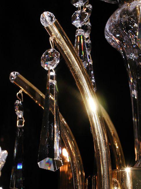 kristall kronleuchter stra l ster deckenlampe bleikristall gold preico elegant ebay. Black Bedroom Furniture Sets. Home Design Ideas