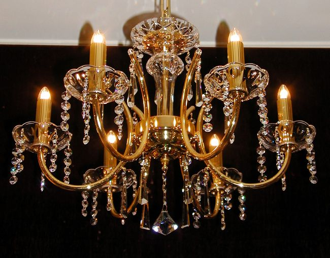 kristall kronleuchter stra l ster deckenlampe. Black Bedroom Furniture Sets. Home Design Ideas