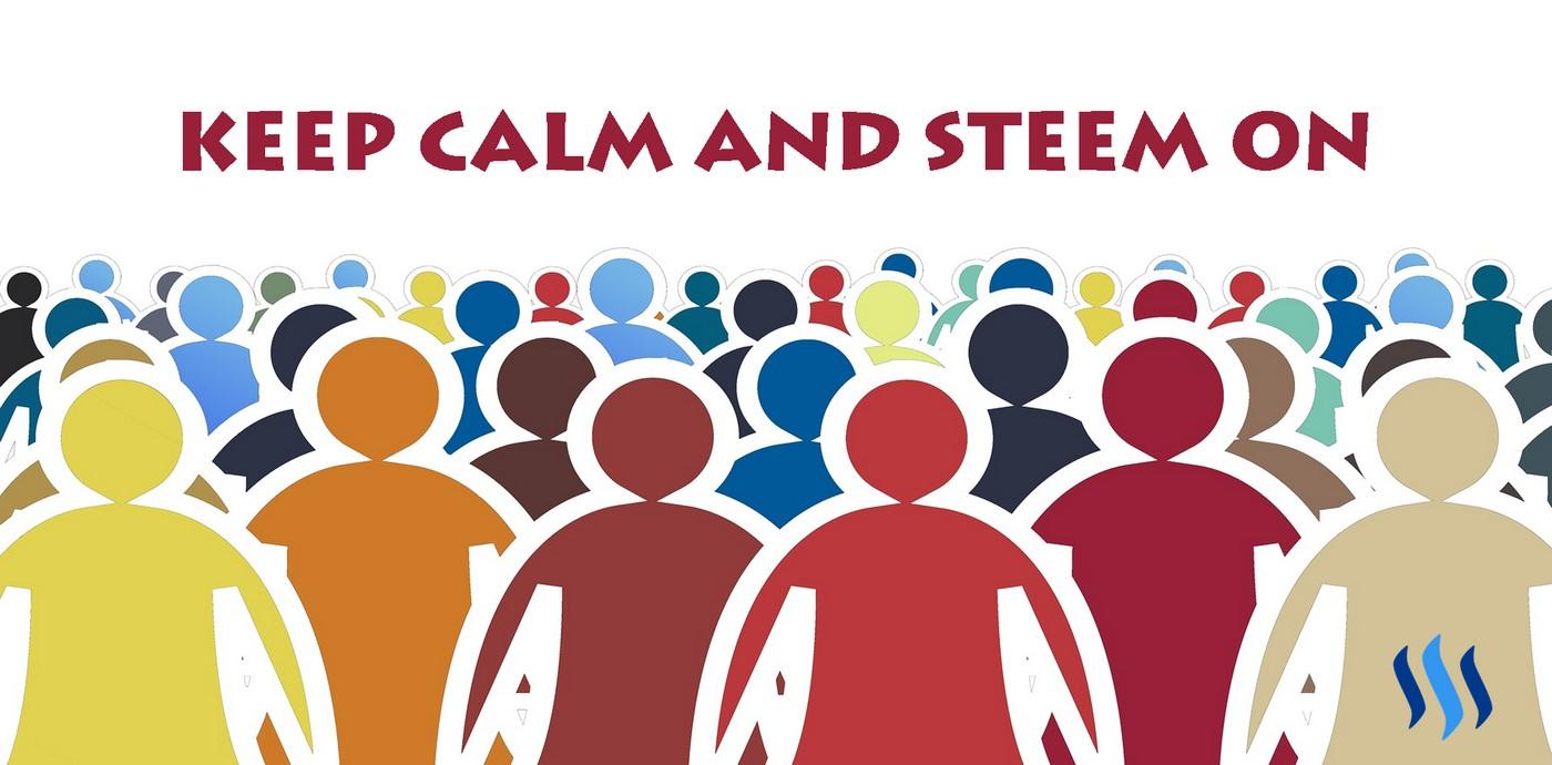keep calm and steem on